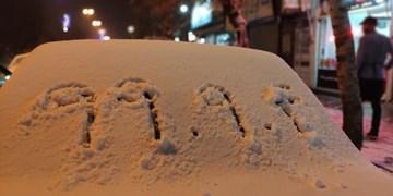 جامه سفید برف پائیزی بر تن جادههای خلخال