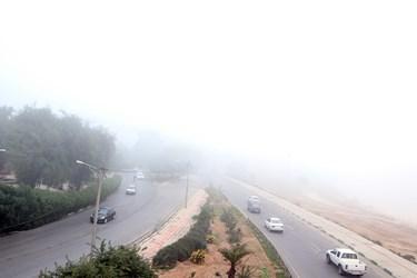 مه صبحگاهی در اهواز