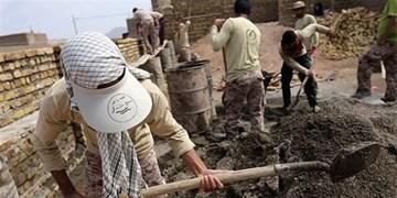 نغمه همدلی جهادگران بدون مرز بوشهر در روستای کپری