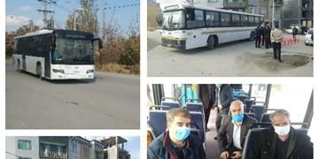 افتتاح خط جدید اتوبوسرانی در شهر مریانج