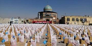کمک مؤمنانه| توزیع ۲۰هزار بسته معیشتی به مناسبت هفته بسیج در قزوین