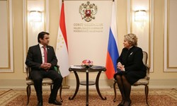 دیدار رئیس پارلمان تاجیکستان و رئیس شورای فدراسیون روسیه