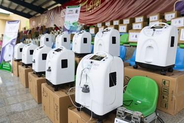 رونمایی از دستگاههای اکسیژنساز توسط سازمان بسیج مستضعفین