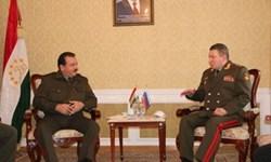 دیدار مقامات ارشد نظامی روسیه و تاجیکستان در «دوشنبه»،