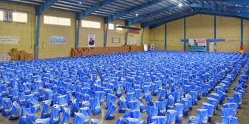 توزیع ۱۱۶۳ پرس غذای گرم و بسته معیشتی در مهریز