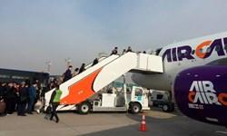 انجام نخستین پرواز مستقیم بین ازبکستان- مصر