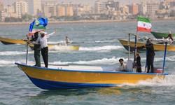رژه 1000 شناور مردمی در سواحل نیلگون خلیج فارس برگزار شد
