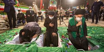 تدفین سه شهید گمنام در حسینیه فاطمیون قم + عکس