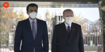 رئیسجمهور ترکیه از امیر قطر استقبال کرد