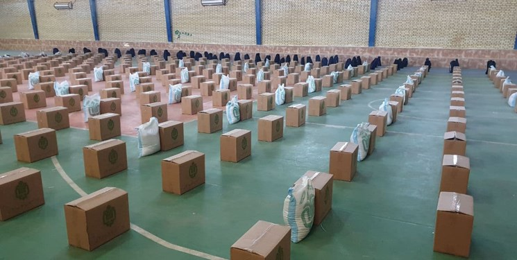 توزیع ۱۲۰۰ بسته معیشتی بهمناسبت هفته بسیج در سیریک