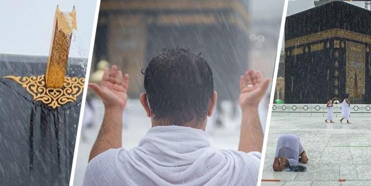طواف خانه خدا، زیر باران بدون چتر + فیلم