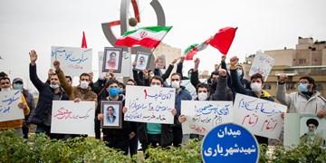 تجمع دانشجویان انقلابی در محکومیت ترور شهید محسن فخریزاده