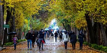باران پائیزی در چهارباغ اصفهان