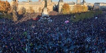 فیلم| درگیری شدید پلیس با معترضان فرانسوی