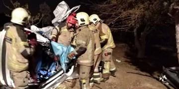 واژگونی خودرو ۲۰۷ در اتوبان تهران  قم یک کشته و ۴ مصدوم برجای گذاشت