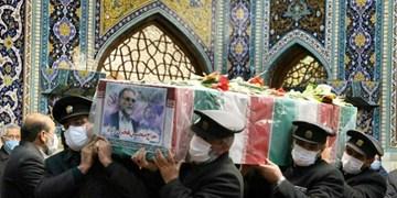 فیلم| پیکر مطهر دانشمند هستهای ایران میهمان حرم رضوی