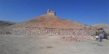 مرمت، ساماندهی و اجرای دیوار حائل کلیسای تاریخی سُهرل
