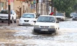 باران جادههای روستایی ممسنی را مسدود کرد