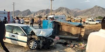 تصادف زانتیا با خودروی کارگران دیری، 22 مصدوم برجای گذاشت