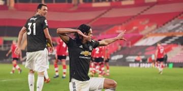 هفته دهم لیگ برتر انگلیس|کامبک منچستر یونایتد با درخشش خیره کننده کاوانی