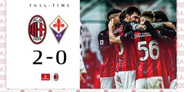 خلاصه بازی میلان 2 - فیورنتینا صفر
