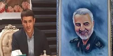 ترسیم نقاشی «سردار دلها» در نخجوان + عکس