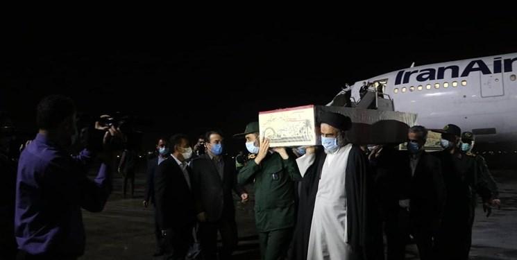 استقبال از پیکر مطهر ۶ شهید گمنام در فرودگاه اهواز