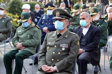 حضور  امیر سرلشکر سید عبدالرحیم موسوی فرمانده کل ارتش در مراسم تشییع شهید فخری زاده در ستاد وزارت دفاع