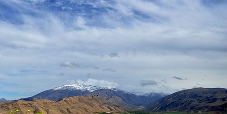 پایان بارندگیها در ایذه با چهره سفید کوهستانها