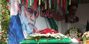 ویدیوی دست اول از خاکسپاری شهید فخریزاده در امامزاده صالح(ع)