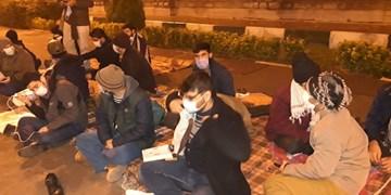 تحصن دانشجویان مقابل مجلس | درخواست برای لغو نظارت تاسیسات هستهای و اخراج بازرسان آژانس اتمی