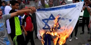 فیلم | آتش زدن پرچم رژیم صهیونیستی در مغرب