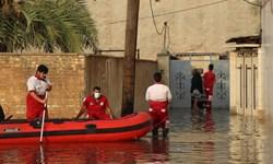 امدادرسانی هلال احمر به پنج هزار نفر از مردم آسیبدیده از باران در خوزستان