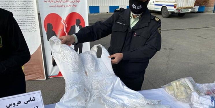 کشف توپ و لباس عروس شیشهای در طرح ظفر پلیس