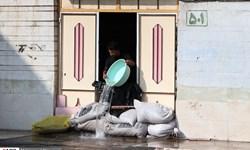 آبگرفتگی معابر و طغیان مسیلها در مناطق مستعد خوزستان