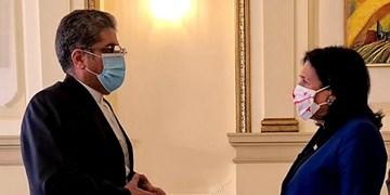 سفیر جدید ایران استوارنامه خود را تسلیم رئیس جمهور گرجستان کرد