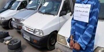سلطان سرقت پراید با 25 فقره سرقت به دام پلیس اصفهان افتاد