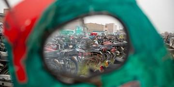پارکینگ موتورسیکلتها در گرگان