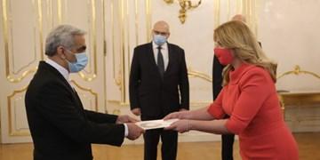 تقدیم استوارنامه سفیر آکردیته ایران به رئیس جمهور اسلواکی