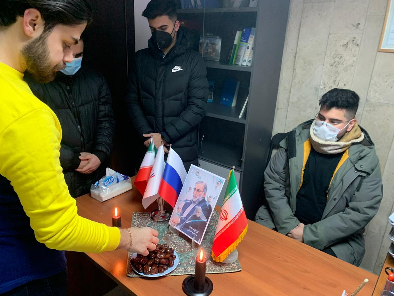 13990914000250 Test NewPhotoFree - برگزاری مراسم هفتمین روز شهادت شهید فخریزاده توسط دانشجویان ایرانی در مسکو