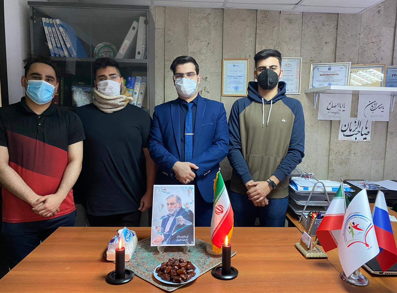 13990914000254 Test NewPhotoFree - برگزاری مراسم هفتمین روز شهادت شهید فخریزاده توسط دانشجویان ایرانی در مسکو