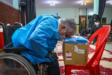 عبادت پزشک جهادگر جانباز در پایان کار جهادی