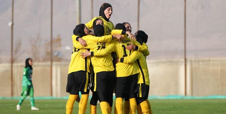 لیگ برتر فوتبال بانوان   نوار پیروزیهای بم توسط سپاهان قطع شد