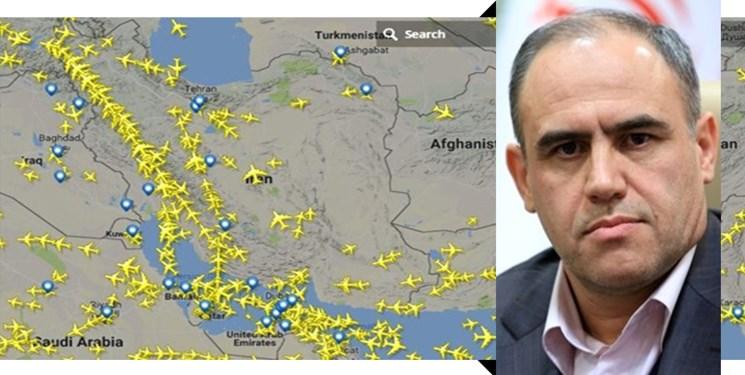 آمریکا قادر به حذف مسیر هوایی ایران نیست/ در روزهای پرتلاطم تحریم قطر فضای ایران برای عبور قطریها باز بود