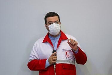 سخنرانی محمد نصیری رئیس سازمان داوطلبان جمعیت هلال احمر در مراسم  روز جهانی داوطلب محله هرندی
