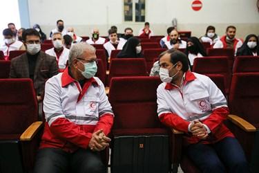 علی ربیعی سخنگوی دولت در مراسم  روز جهانی داوطلب محله هرندی