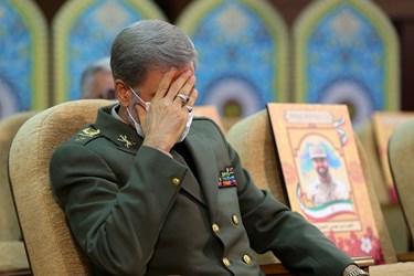 امیر حاتمی وزیر دفاع و پشتیبانی نیروهای مسلح در مراسم بزرگداشت شهيد فخري زاده