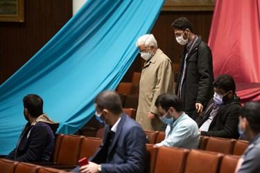 ورود سعید جلیلی عضو مجمع تشخیص مصلحت نظام  به آیین بزرگداشت روز دانشجو در دانشگاه تهران