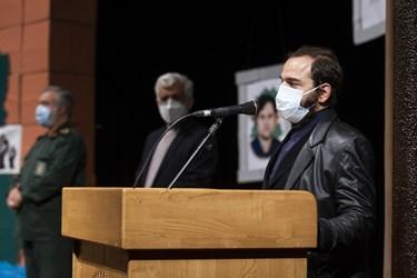 سخنرانی حامد فخریزاده  فرزند شهید هستهای محسن فخریزاده در آیین بزرگداشت روز دانشجو در دانشگاه تهران