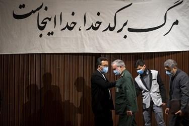 سردار علی فدوی جانشین فرمانده کل سپاه در پایان آیین بزرگداشت روز دانشجو در دانشگاه تهران